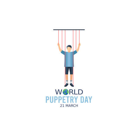 vector graphic of world puppetry day good for world puppetry day celebration. flat design. flyer design.flat illustration.