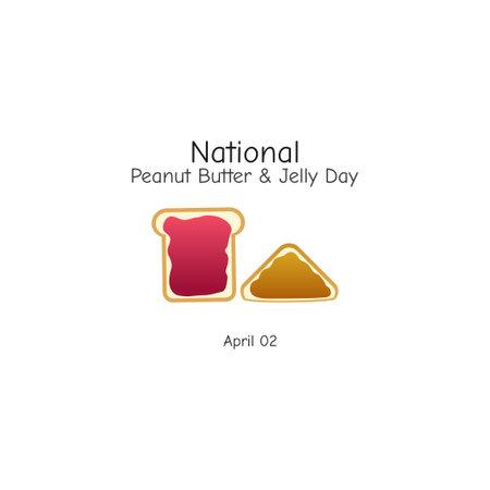 vector graphic of national peanut butter and jelly day good for national peanut butter and jelly day celebration. flat design. flyer design.flat illustration.