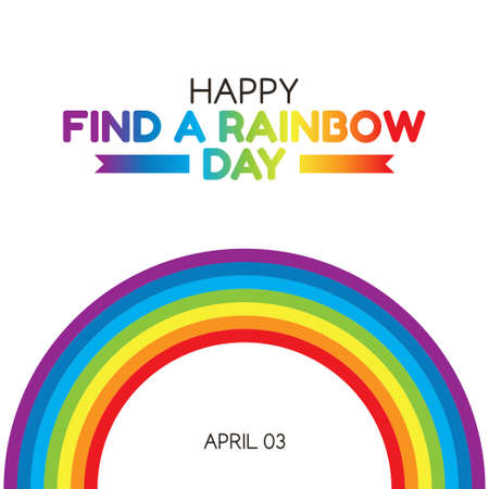 vector graphic of happy find a rainbow day good for find a rainbow day celebration. flat design. flyer design.flat illustration. Ilustracja