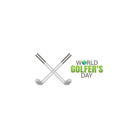 vector graphic of world golfers day good for world golfers day celebration. flat design. flyer design.flat illustration.