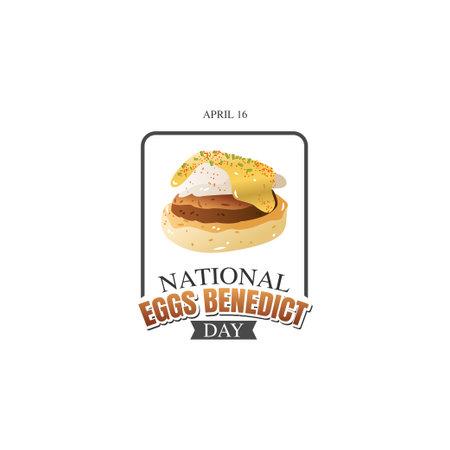 vector graphic of national eggs benedict day good for national eggs benedict day celebration. flat design. flyer design.flat illustration.