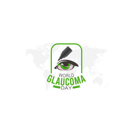 vector graphic of world glaucoma day good for world glaucoma day celebration. flat design. flyer design.flat illustration.