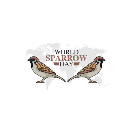 vector graphic of world sparrow day good for world sparrow day celebration. flat design. flyer design.flat illustration.