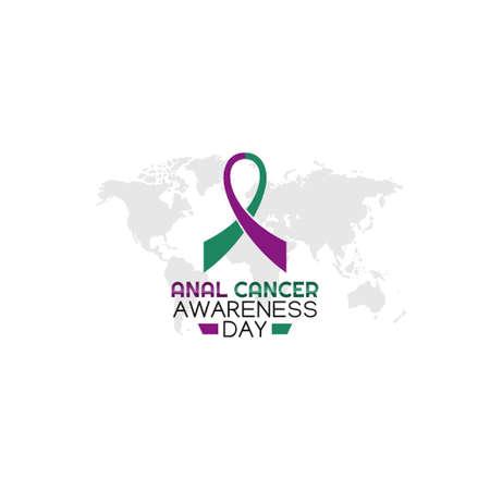 vector graphic of anal cancer awareness day good for anal cancer awareness day celebration. flat design. flyer design.flat illustration.