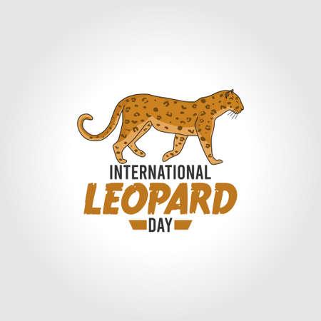 vector graphic of international leopard day good for international leopard day celebration. flat design. flyer design.flat illustration.