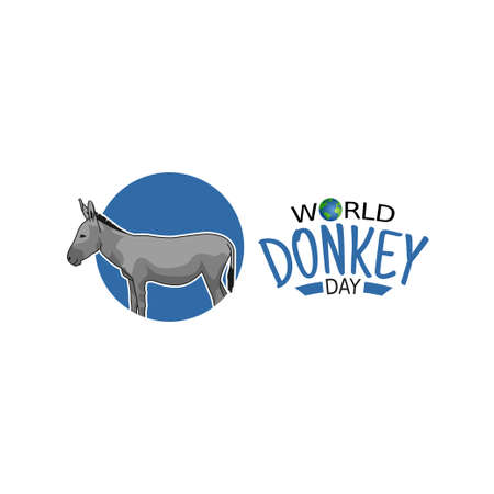 vector graphic of world donkey day good for world donkey day celebration.