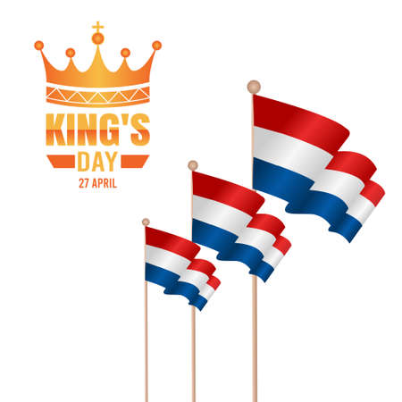 vector graphic of king's day good for king's day celebration. flat design. flyer design.flat illustration.