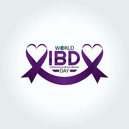 vector graphic of world IBD day good for world IBD day celebration. flat design. flyer design.flat illustration.