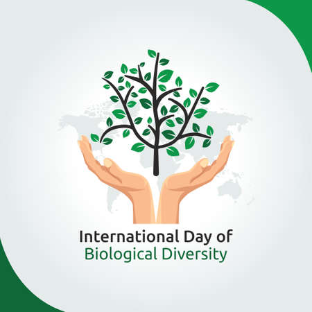 vector graphic of international day of biological diversity good for day of biological diversity celebration. flat design. flyer design.flat illustration.