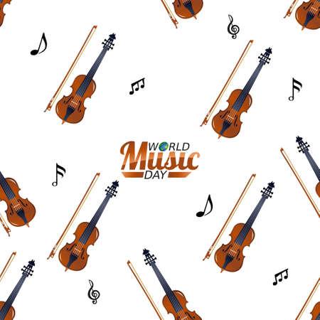 vector graphic of world music day good for world music day celebration. flat design. flyer design.flat illustration. Vektorgrafik