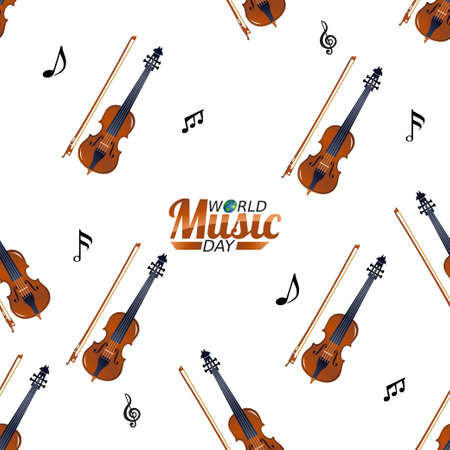 vector graphic of world music day good for world music day celebration. flat design. flyer design.flat illustration. Vector Illustration
