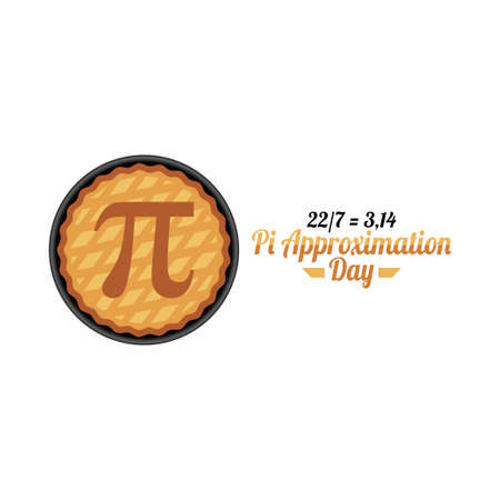 vector graphic of pi approximation day good for pi approximation day celebration. flat design. flyer design.flat illustration.