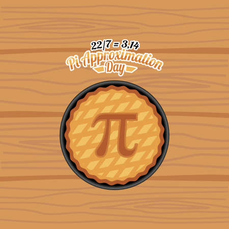vector graphic of pi approximation day good for pi approximation day celebration. flat design. flyer design.flat illustration. Vetores