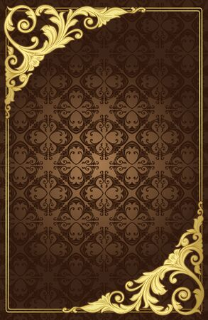 filigree background: vintage gold frame