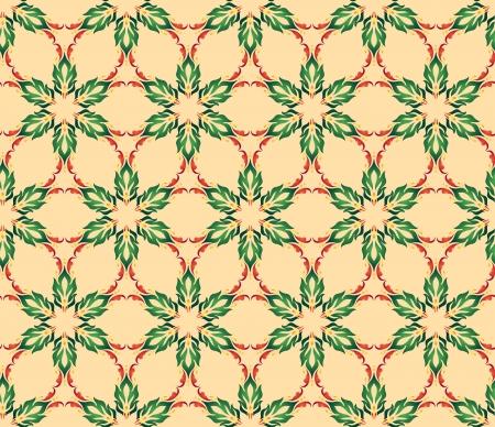 revivalism: seamless mosaic pattern