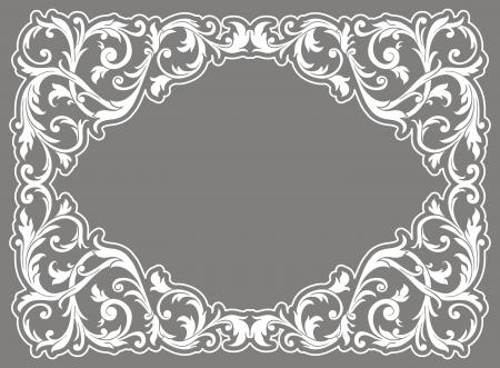 inlay: white frame Illustration