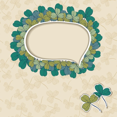 background with clover Stock Vector - 15890318