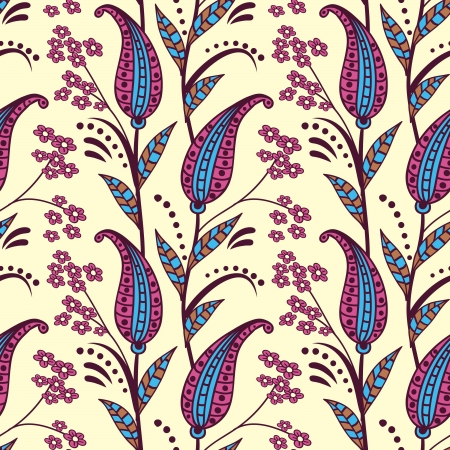 orient: Paisley naadloze patroon Stock Illustratie