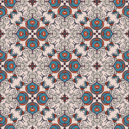 east river: seamless floral pattern