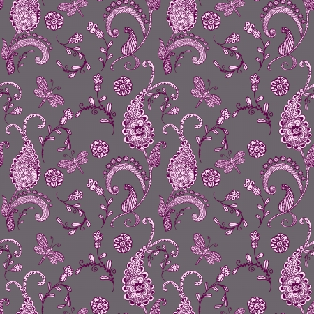 wrapper: seamless paisley Illustration