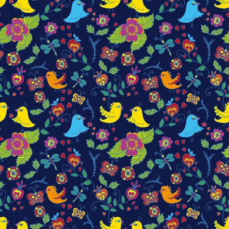 Seamless pattern with birds Stock Vector - 15890346