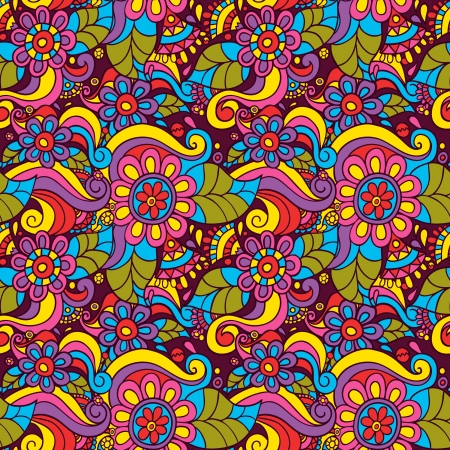 abstract flowers: seamless pattern with flowers