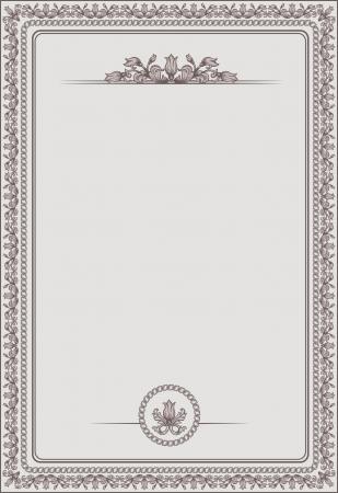 vintage blank for certificates