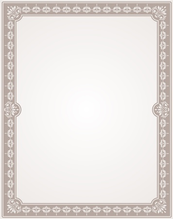 vintage blank for certificates Stock Vector - 15990387