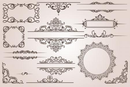 decorative border  Stock Illustratie