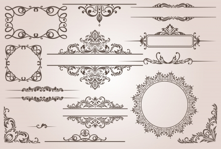 calligraphic design: decorative border  Illustration