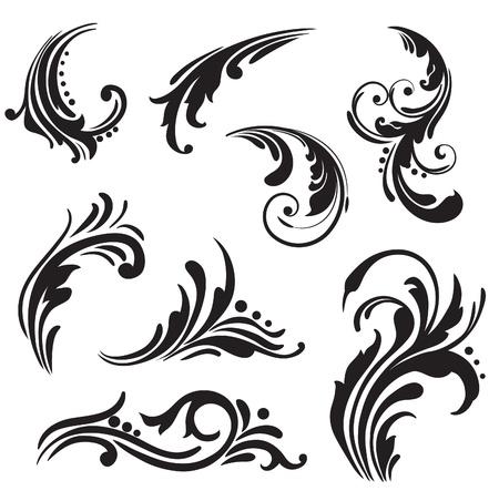 ornamental scroll: decorative border  Illustration