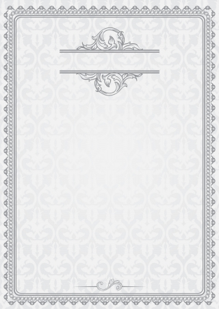 vintage blank for certificates Stock Vector - 15990399
