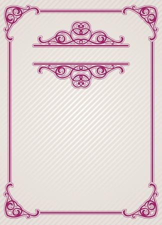 vintage blank for certificates Stock Vector - 15990383