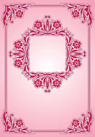 vintage background with frame  Vector