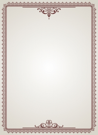 vintage blank for certificates Vector