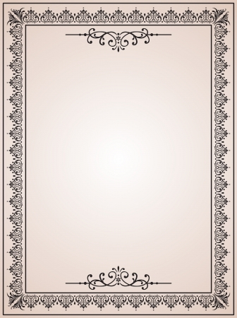 victorian border: vintage blank for certificates