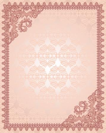 vintage background with frame