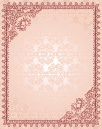 vintage background with frame Stock Vector - 16250966