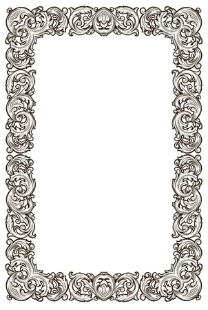 victorian scroll: openwork frame  Illustration