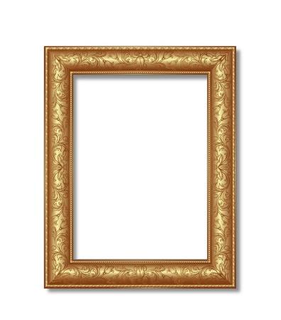 frame on wall: cornice dorata