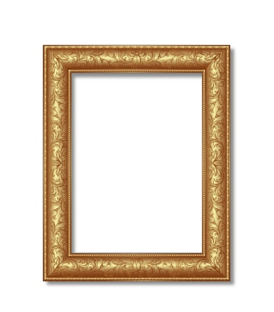 wood frame: golden frame