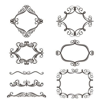 decorative border and frame set Stock Vector - 15990385