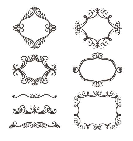 decorative border and frame set