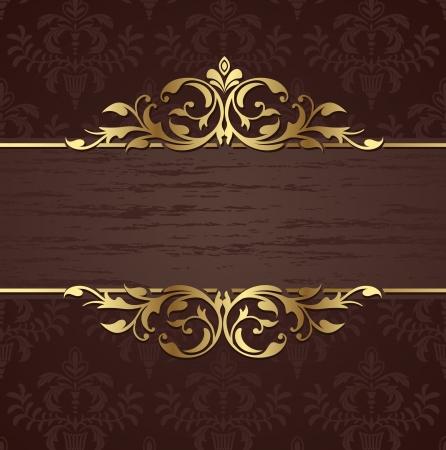 calligraphic design: Vintage background