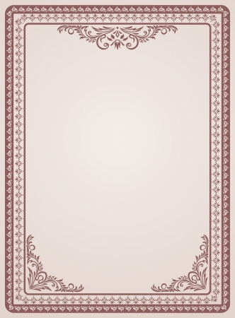 swirl border: Certificate template  Vintage background