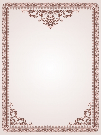 Certificate template  Vintage background Stock Vector - 15990396