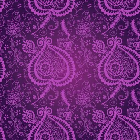 Seamless violet floral pattern Vector