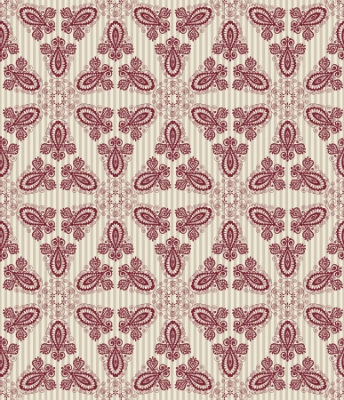 Seamless vintage pattern with lace elements Vector