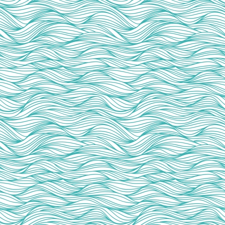 Seamless pattern with drawing waves Stock Illustratie