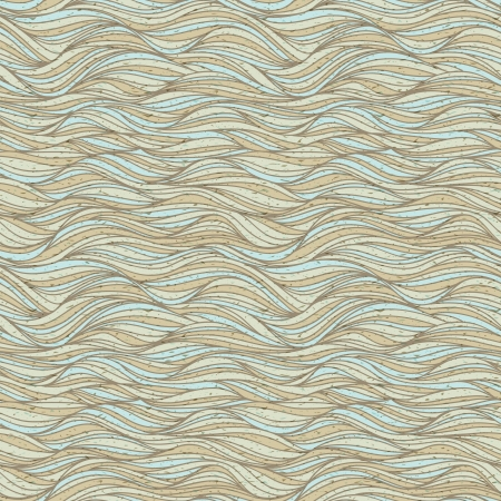 Seamless vintage grunge pattern with waves